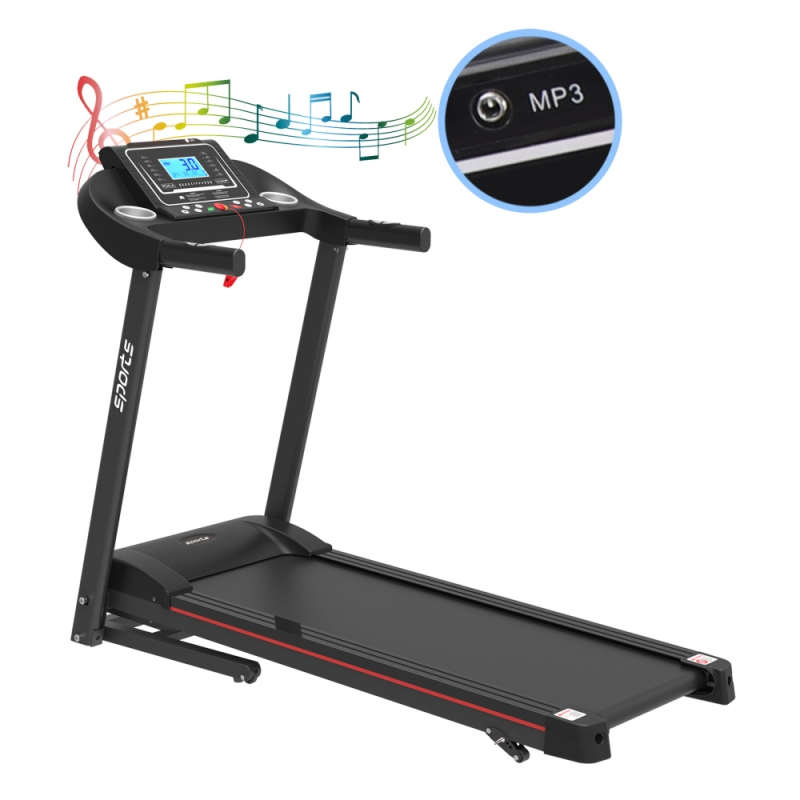 ihocon: The Power Wear 2 HP Folding Electric Motorized Treadmill with Manual Incline & Air Spring & MP3 跑步機