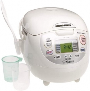 ihocon: Zojirushi NS-ZCC10 5-1/2-Cup Neuro Fuzzy Rice Cooker and Warmer, Premium White, 1.0-Liter 電飯鍋