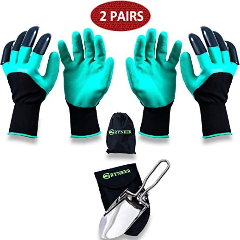 ihocon: GRYNKER Garden Gloves with Claws for Digging - 2 Pairs  園藝手套2副