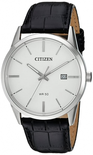 ihocon: Citizen Men's Quartz Stainless Steel and Leather Casual Watch 男錶