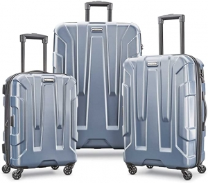 ihocon: Samsonite Centric Hardside Expandable Luggage with Spinner Wheels, Blue Slate, 3-Piece Set (20/24/28) 硬殼行李箱