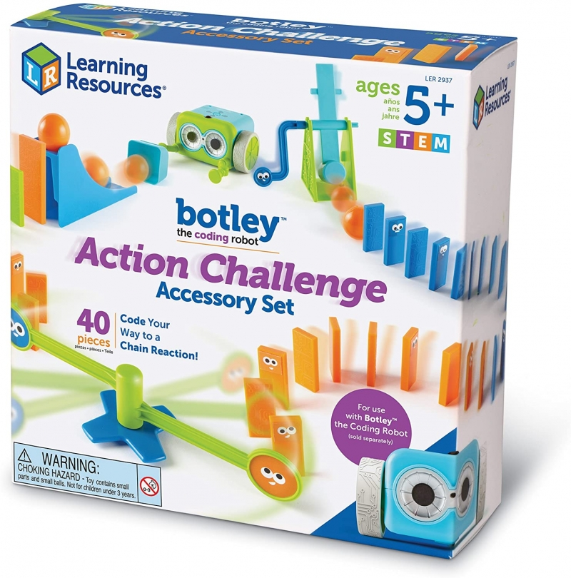 ihocon: [適用5歲以上] Learning Resources Botley the Coding Robot Action Challenge Accessory Set, 40 Pieces, Ages 5+