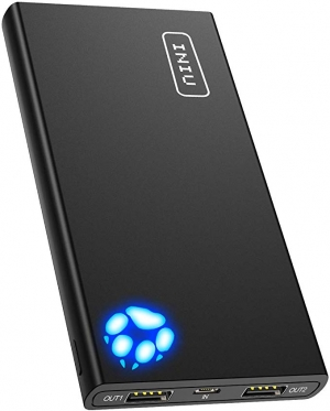 ihocon: INIU 10000mAh Portable Power Bank with 2 USB Charging Ports with Flashlight Battery Pack 行動電源/充電寶