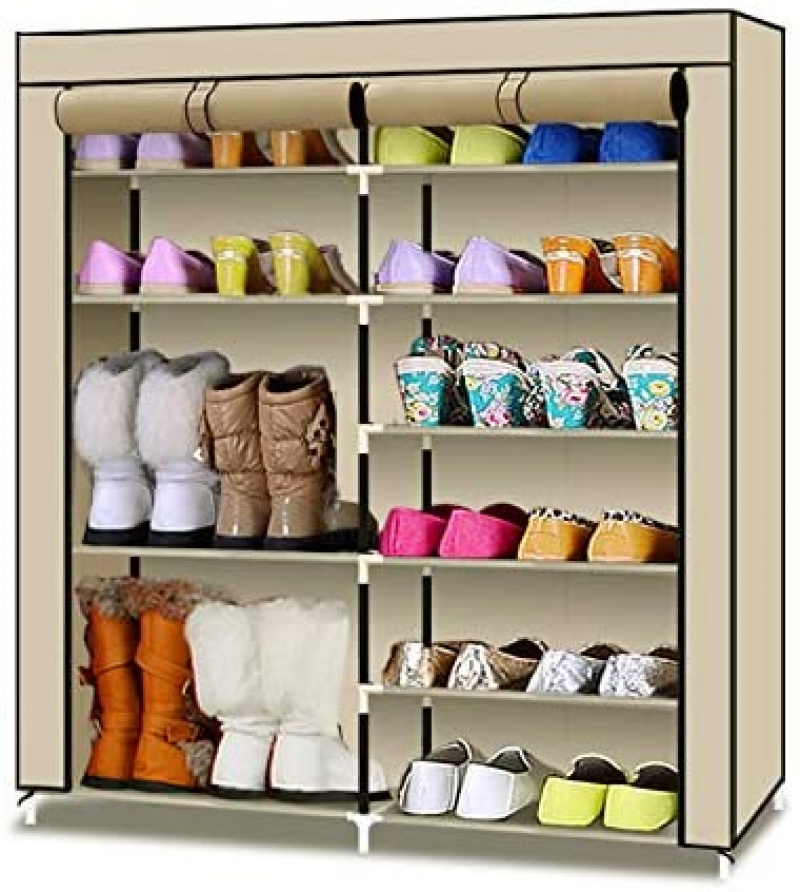 ihocon: TXT&BAZ 20-Pairs Shoe Rack Covered with Nonwoven Fabric含罩鞋架