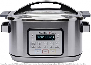 ihocon: Instant Pot Aura Pro 11-in-1 Multicooker Slow Cooker, 8 Qt, 11 One-Touch Programs  多功能鍋(煮飯, 慢燉, 蒸, 炒, 煮飯, 保温, 做優格, 烤...)