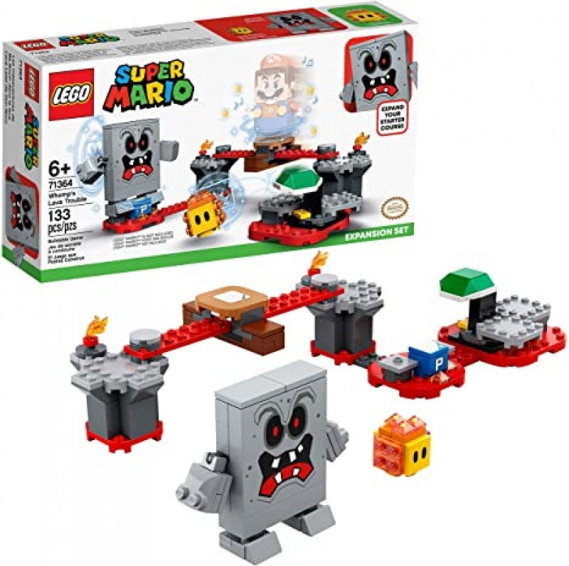 ihocon: LEGO Super Mario Whomp's Lava Trouble Expansion Set 71364 Building Kit (71360), New 2020 (133 Pieces)