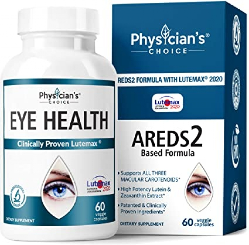 ihocon: Physician's Choice Areds 2 Eye Vitamins Lutein and Zeaxanthin Supplement 眼睛保健品(葉黃素及玉米黃質) 60粒
