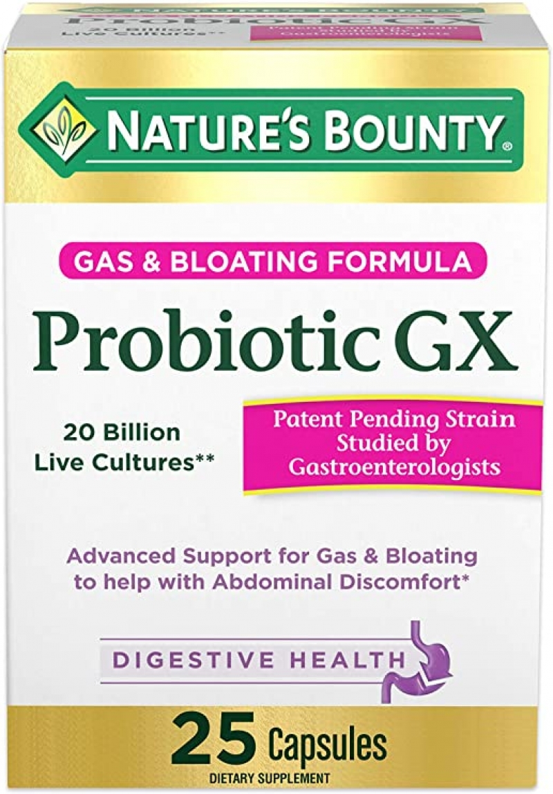 ihocon: Nature's Bounty Probiotic GX, 20 billion, 25 Capsules 益生菌