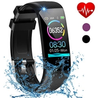 ihocon: Beaulyn Activity Tracker with Heart Rate Monitor, Sleep Monitors, Calorie, Pedometer, IP67 Waterproof 心率監測運動手環