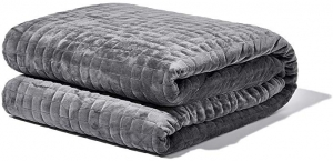 ihocon: [助眠, 減壓] Gravity Blanket: The Weighted Blanket For Sleep, Stress and Anxiety, Space Grey 48 x 72 Size, 25-Pound 重力毯/加重毯