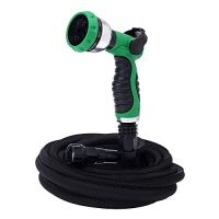 ihocon: GREEN MOUNT 50ft Expandable Garden Hose with 8 Function Spray Nozzle伸縮澆花水管含噴水頭