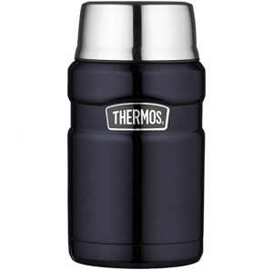 ihocon: Thermos Stainless King 24 Ounce Food Jar, Midnight Blue 膳魔師不銹鋼保温便當