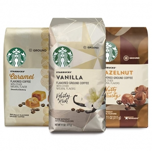 ihocon: Starbucks Flavored Ground Coffee — Variety Pack — No Artificial Flavors — 3 bags (11 oz. each) 星巴克研磨咖啡