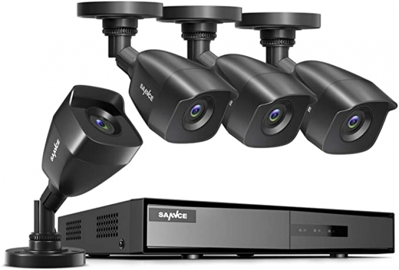 ihocon: SANNCE 4-Channel, H.264+ Security 4-Camera Home Surveillance DVR System居家安全監視系統