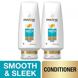 ihocon: Pantene, Sulfate Free Conditioner, with Argan Oil, Pro-V Smooth and Sleek Frizz Control, 24 fl oz, Twin Pack 護髮乳,含摩洛哥堅果油