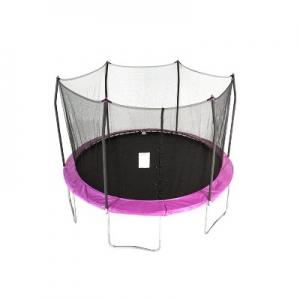 ihocon: Skywalker Trampolines 12' Round Trampoline with Enclosure - Purple 彈跳床