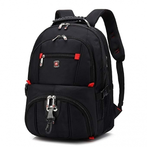 ihocon: HuaChen 15吋 Travel Laptop Backpack (Black)電腦背包