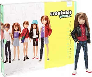 ihocon: Creatable World Deluxe Character Kit Customizable Doll, Copper Straight Hair