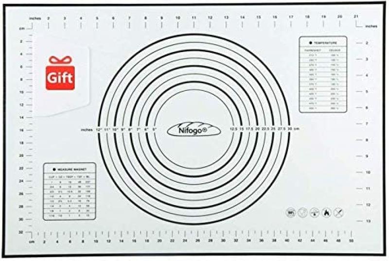 ihocon: Nifogo Silicone Baking Mats, 23.6 x 15.7 Inch 矽膠麵食製作墊