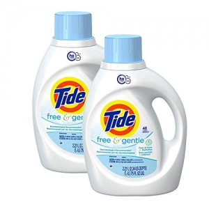 ihocon: Tide Coldwater Clean High Efficiency, Free of Dyes, 49.7 fl oz / 1.47L, 26 Loads, 2-Count  高效洗衣精