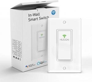 ihocon: [自動訂時與遙控] Hugoai In-wall Smart WiFi Light Switch With Timer & Remote Control 智能電燈開關, 不在家也能控制家中電燈