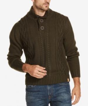 ihocon: Weatherproof Vintage Men's Button Mock-Neck Sweater 男士毛衣