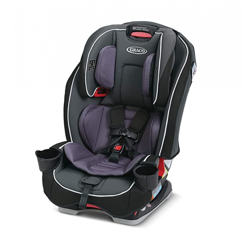 ihocon: Graco SlimFit 3 in 1 Car Seat | Slim & Comfy Design Saves Space in Your Back Seat, Annabelle   3合1兒童汽車安全座椅