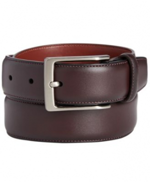 ihocon: Perry Ellis Portfolio Men's Leather Amigo Dress Belt 男士皮帶