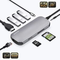 ihocon: zomoi 9-in-1 USB C Adapter / Type C Hub
