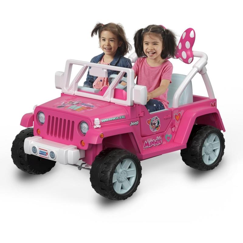 ihocon: Power Wheels Disney Minnie Mouse Happy Helpers Jeep Wrangler Ride-On 迪士尼米妮電動吉普車