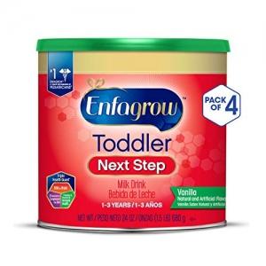 ihocon: Enfagrow Toddler Next Step, Vanilla Flavor - Powder Can, 24 oz (Pack of 4)幼兒奶粉