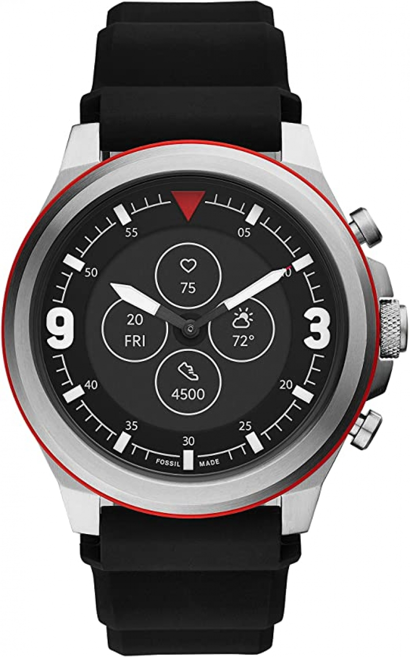 ihocon: Fossil Men's Latitude Hybrid HR Smartwatch 智能男錶