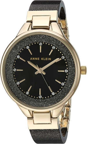ihocon: Anne Klein Women's Swarovski Crystal Accented Resin Bangle Watch  施華洛世奇水晶女錶
