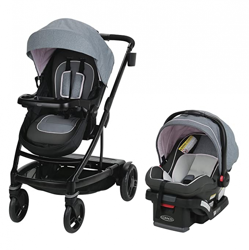 ihocon: Graco Uno2Duo Travel System | Includes UNO2DUO Stroller and SnugRide SnugLock35 Infant Car Seat嬰兒推車及汽車座椅