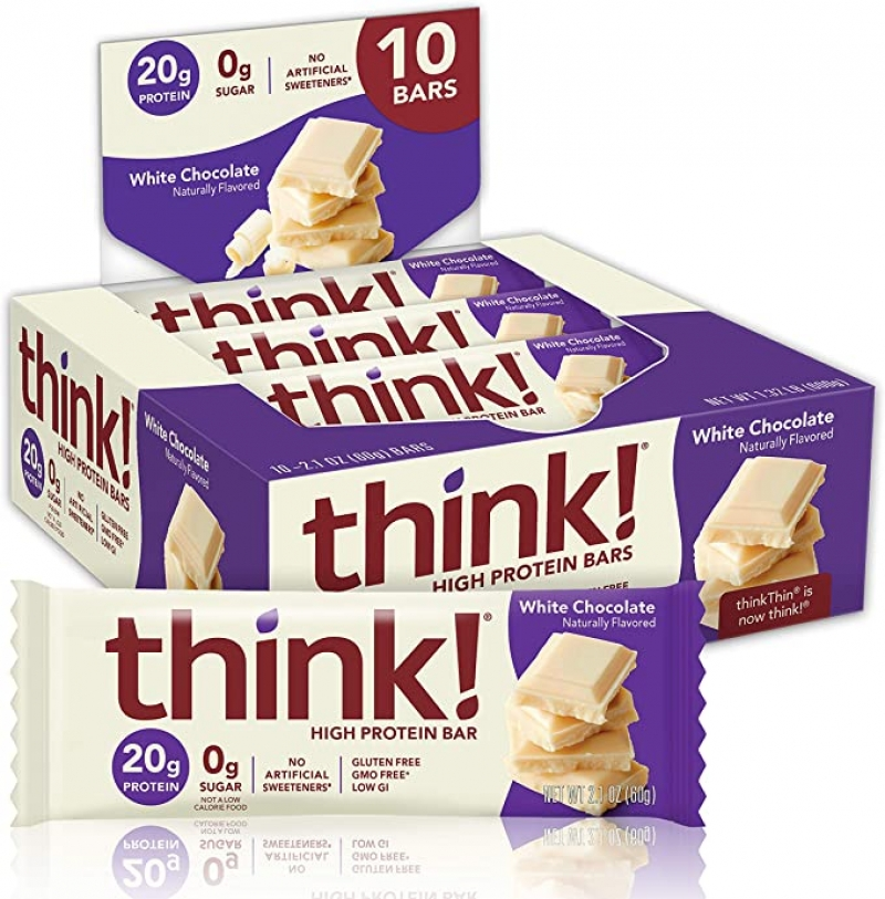 ihocon: think! High Protein Bars 20g Protein, 10 Count 蛋白質棒