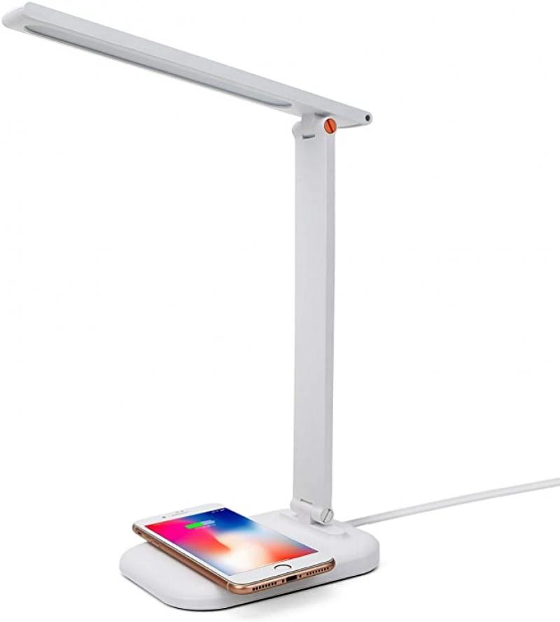 ihocon: gelpal LED Desk Lamp with Wireless Charger 光線微調護眼桌燈, 內建無線手機充電板