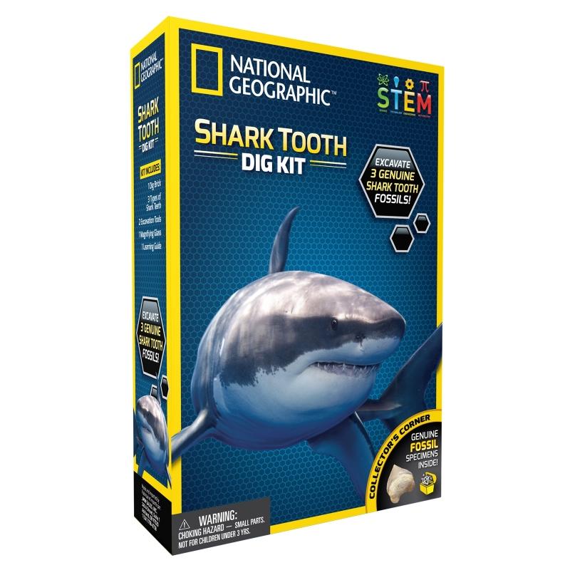 ihocon: National Geographic Shark Tooth Dig Kit 國家地理雜誌鯊魚牙齒挖掘套裝