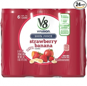 ihocon: V8 Strawberry Banana, 8 oz. Can (4 packs of 6, Total of 24)草莓香蕉果汁