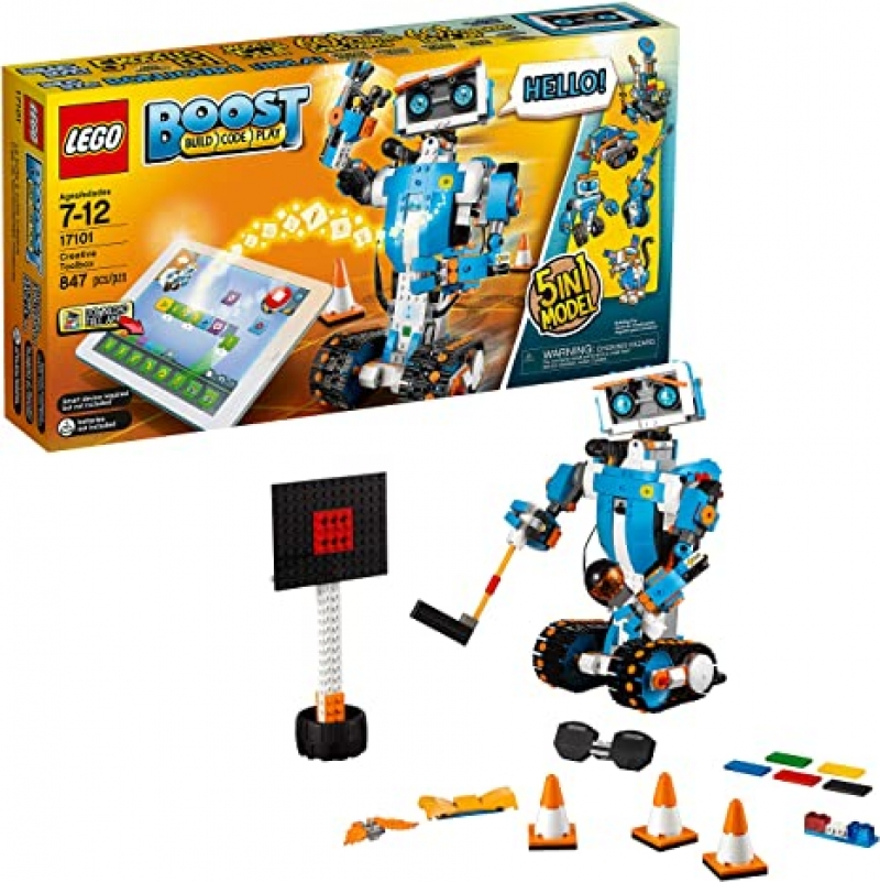 ihocon: LEGO Boost Creative Toolbox 17101 Fun Robot Building Set and Educational Coding Kit for Kids, Award-Winning STEM Learning Toy (847 Pieces) 樂高兒童編碼學習機器人積木