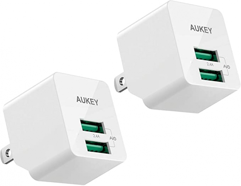 ihocon: AUKEY USB Wall Charger with Foldable Plug 2-PACK 壁式充電器