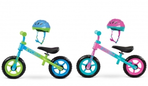 ihocon: Zycom 10 My 1st Balance Bike With Helmet Combo, Ages 18-36 Months - Blue/Green 幼兒2輪平衡車+頭盔 - 2色可選