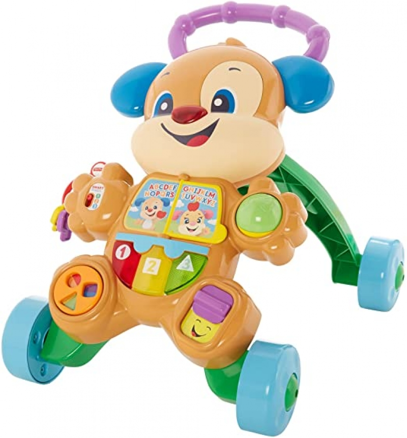 ihocon: Fisher-Price Laugh & Learn Smart Stages Learn with Puppy Walker 學步遊戲推車