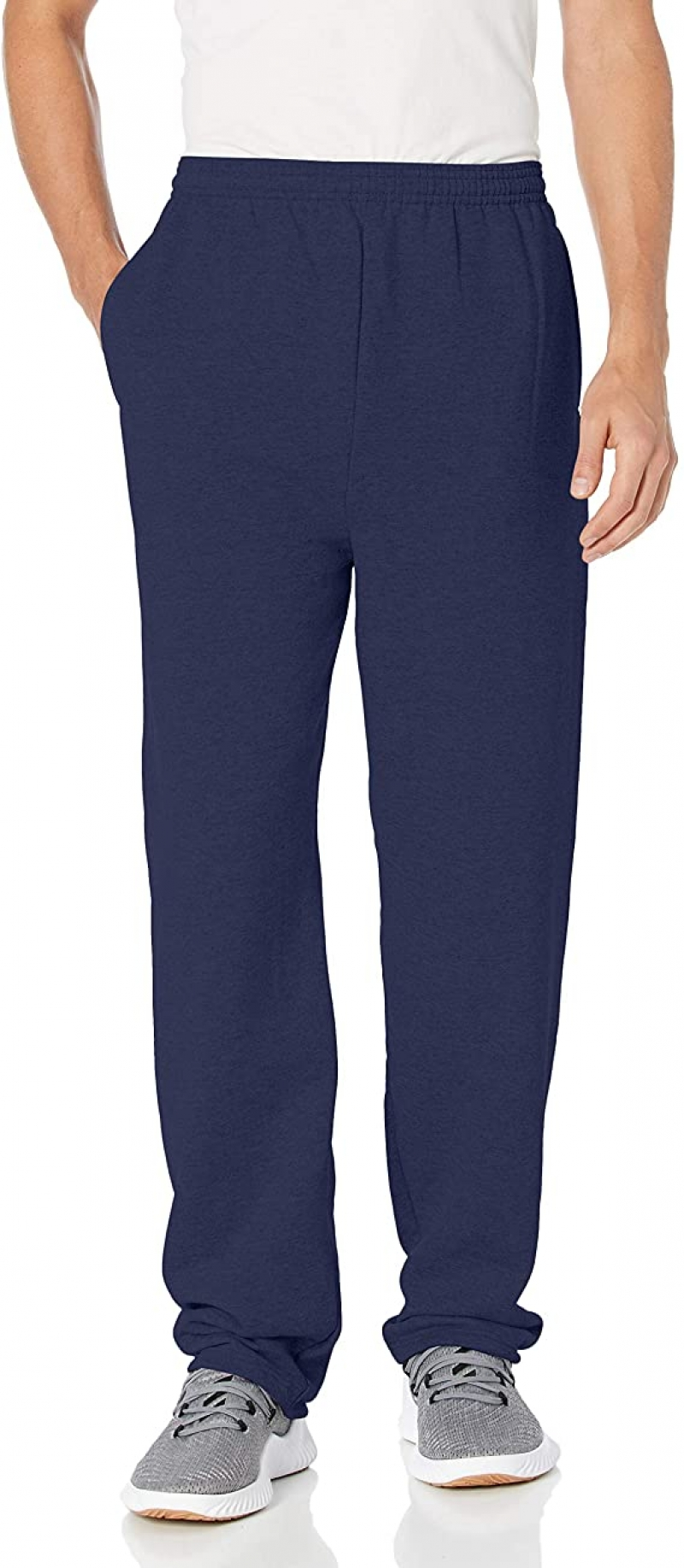 ihocon: Hanes Men's EcoSmart Open Leg Fleece Pant with Pockets 男士長褲