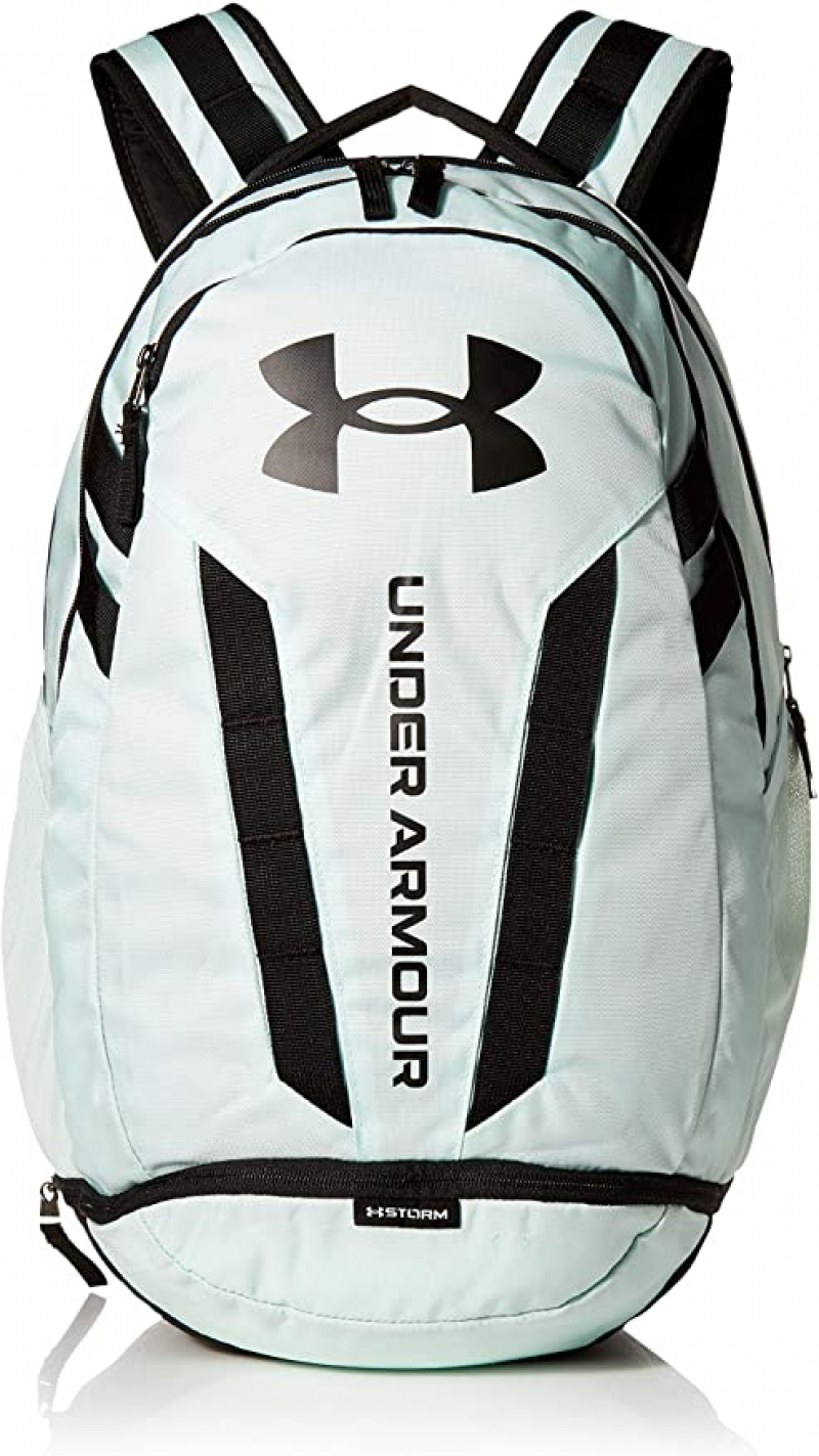 ihocon: Under Armour Hustle Backpack, Seaglass Blue (403)/Black 背包