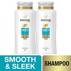ihocon: Pantene Shampoo, with Argan Oil, Pro-V Smooth and Sleek Frizz Control, 25.4 fl oz, Twin Pack 洗髮精2瓶