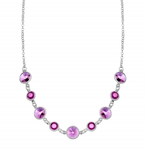 ihocon: Necklace with Purple Swarovski Crystal 施華洛世奇水晶項鍊