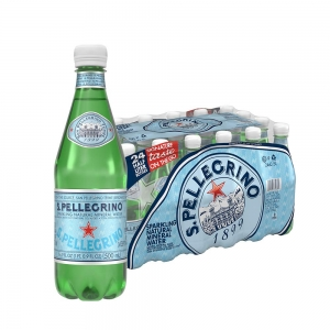 ihocon: S.Pellegrino Sparkling Natural Mineral Water, 16.9 fl oz. (24 Pack)氣泡礦泉水