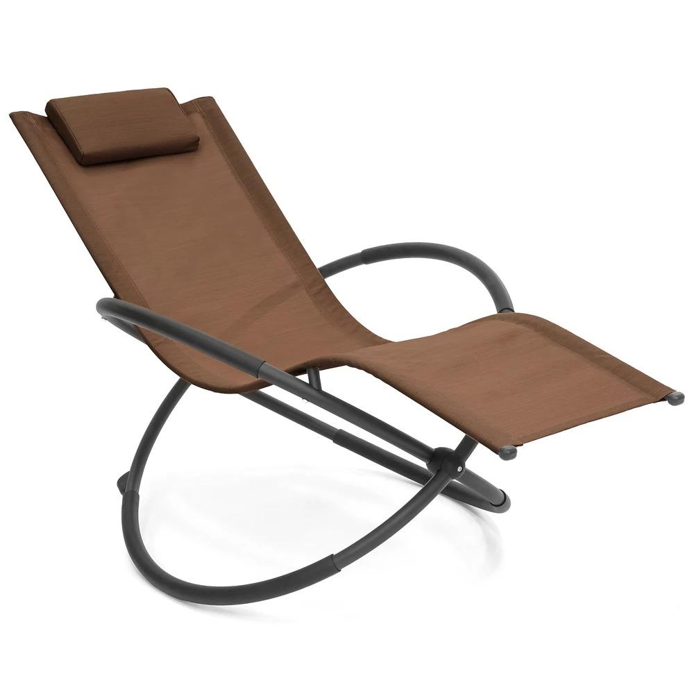 ihocon: Outdoor Folding Zero Gravity Orbital Seat Chair w/ Removable Pillow 庭園可折疊零重力躺椅, 含可拆枕頭 - 多色可選