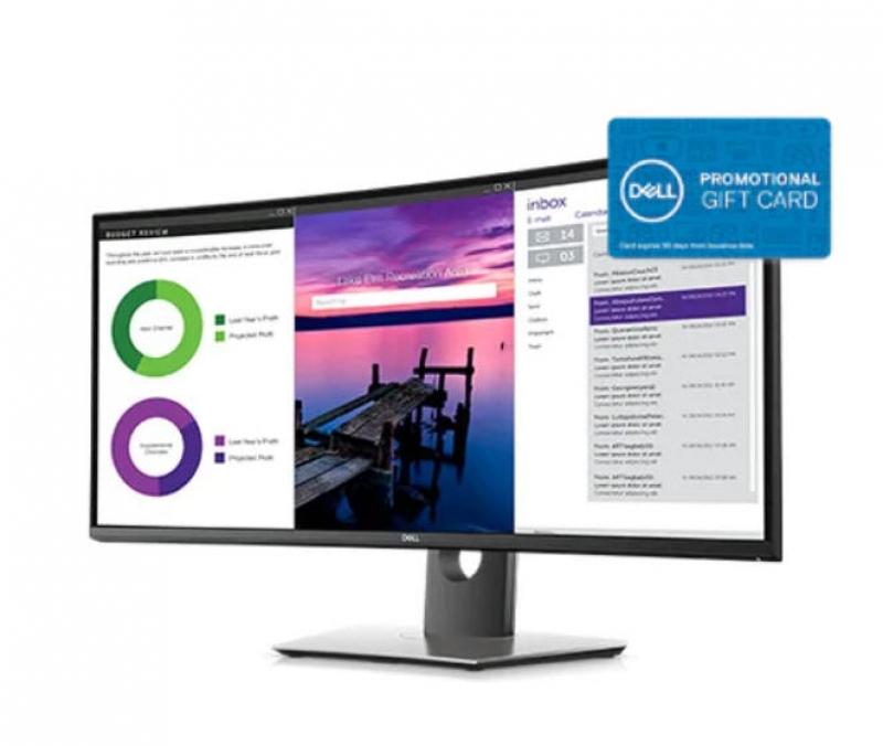 ihocon: Dell UltraSharp 34 Curved USB-C Monitor曲型電腦螢幕+ $200 Dell Promo eGift Card