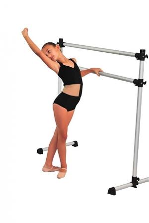 ihocon: Barre Trainer Double Freestanding 4 foot Ballet Barre, Stretch/Dance Bar, 4 Feet Fitness Barre 芭蕾伸展架